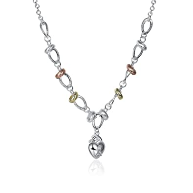 NYKKOLA Hot Sale Jewelry Polished Hoop with Austrian Crystal 925 Sterling Silver plated Necklace For Women Mens FokPqc