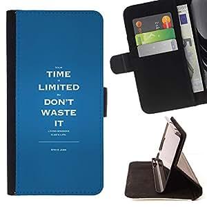 Momo Phone Case / Flip Funda de Cuero Case Cover - Por tiempo limitado Residuos inspirador mensaje - Sony Xperia Z2 D6502