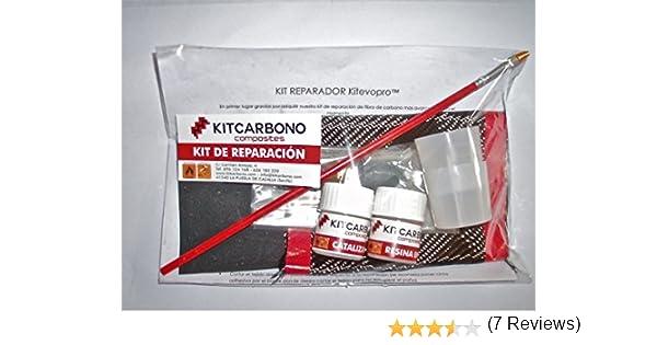 Kit Reparador de Fibra de Carbono Kitevopro Plain 3k: Amazon.es: Deportes y aire libre