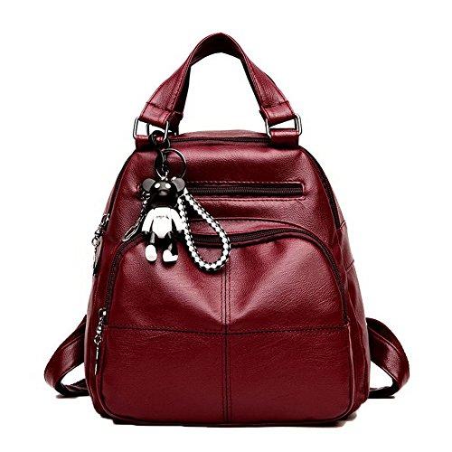 Aller Rouge Des Femme Vineux Sacs Dos À L'école Zippers Mode Aalardom xRIqFwzx