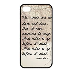Special Designer Robert Frost Quote It Goes On Silicon iPhone 4/4S Case, Snap on Protective Robert Frost iPhone 4/4S Case