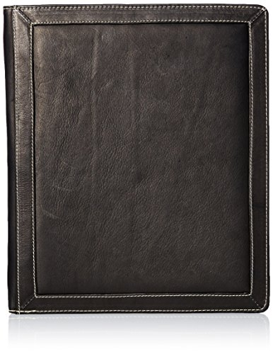 Piel Leather Three-Ring Binder Bl, Black Blk Three Ring Binder