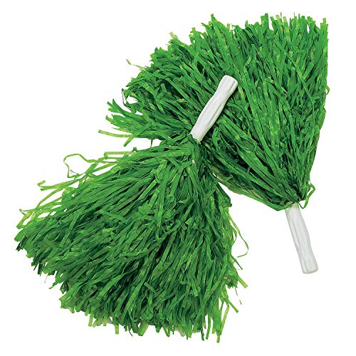 (Fun Express Green Pom-Poms (1 dz))