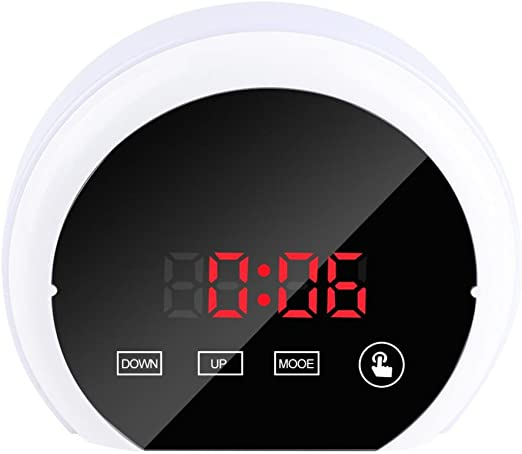 Pasamer Mirror Surface Reloj Despertador Digital Colorido LED Luz ...