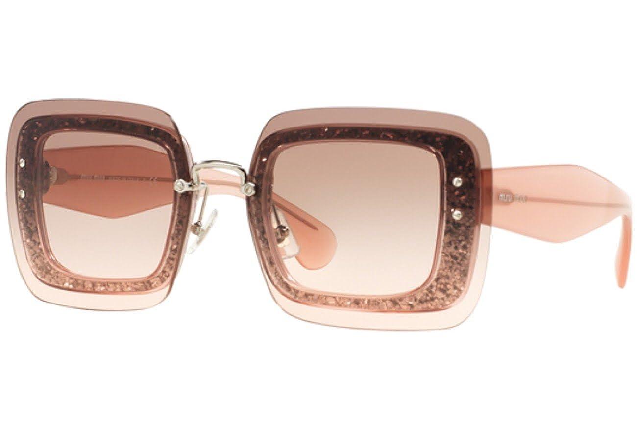 Miu Miu MU01RS Sonnenbrille Transparentes Rosa und Glitzer UEU1E2 67mm xxKIuwRm