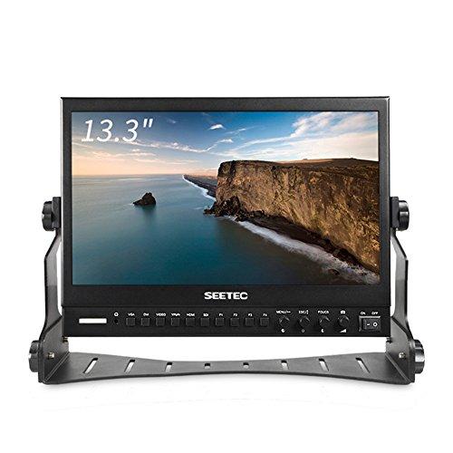 SEETEC P133-9HSD 13.3 Inch Aluminum Design IPS Screen Full HD 1920×1080 Pro Broadcast Monitor with 3G-SDI HDMI AV YPbPr Professional LCD Monitor by SEETEC