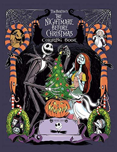 This Is Halloween Girl Cover (The Nightmare Before Christmas Coloring Book: This is a must have for NBC fans! Nice Book Cover With Velvety Finish. The Book Itself Is Just Like The ... In It.)