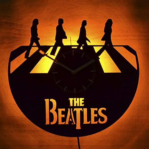 The Beatles Abbey Road Led Light Vinyl Record Wall Clock - Get Unique Bedroom or livingroom Wall Decor - Gift Ideas for Boys and Girls Perfect Element of The Interior Unique Modern Art