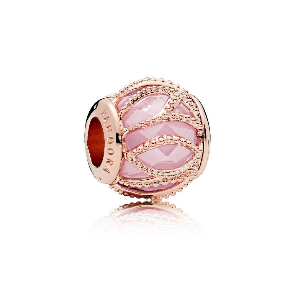 deb78530f Amazon.com: PANDORA Intertwining Radiance Charm, PANDORA Rose, Pink Cubic  Zirconia, One Size: Jewelry