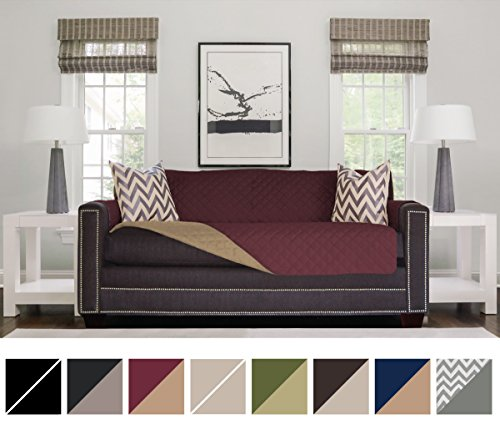 Sofa Shield Original Reversible Couch Slipcover Furniture Protector, Seat Width up to 70