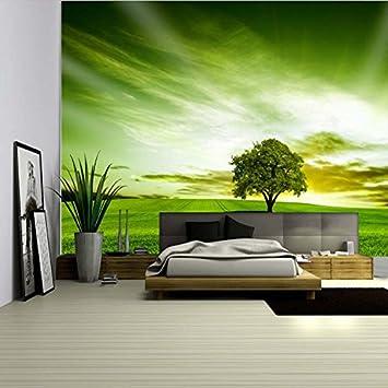 Baum-Grün-großes Wand-Fernsehhintergrund-Tapete-Schlafzimmer ...