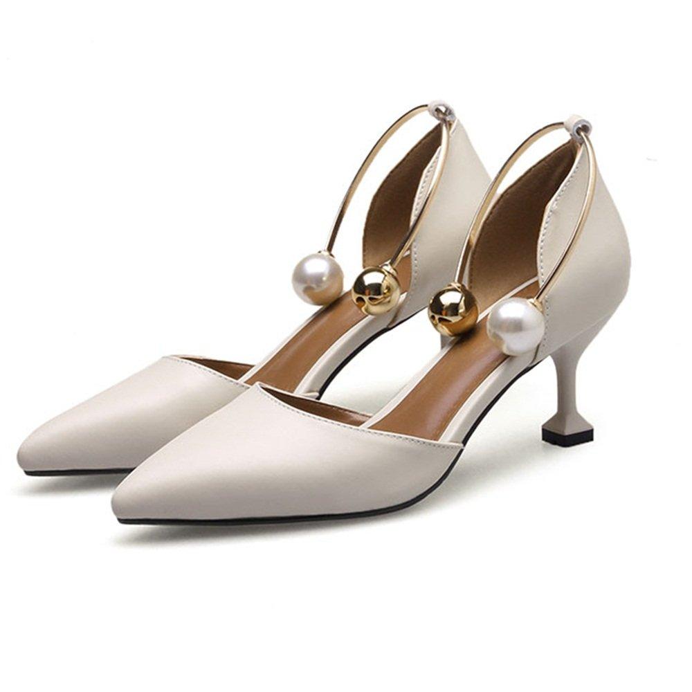 ZHANGRONG- Femmes Escarpins Closed A, Toe Platform High Closed Heel Chaussures Buckle Satin Evening Court Chaussures de Mariage (Couleur : A, Taille : EU36/UK4/CN36) A cf2f2be - reprogrammed.space