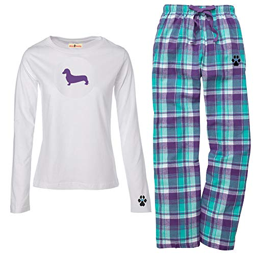 (YourBreed Clothing Company Dachshund Miniature Ladies Flannel Pajamas. Size XL)