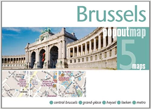 Brussels PopOut Map: pop-up city street map of Brussels city center ...