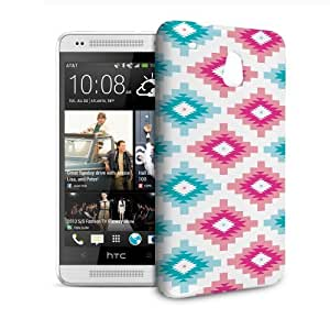 Phone Case For HTC 601e (One Mini) M4 - Native American Tribal Brights Hardshell Lightweight