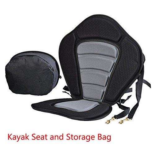 JAYEGT Kayak Backrest Seat Profesional Universal Sit on Top Full Kayak Backrest Seat Fishing Full Black Back Rest Cushion by JAYEGT