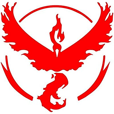 """Team Red (Valor) Decal Sticker for Car/Truck/Laptop (4.5"""" x 4.5""""): Automotive"""