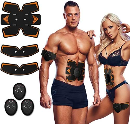 Antmona Abs Stimulator, Muscle Toner - Abs Stimulating Belt- Abdominal Toner- Training Device for Muscles- Wireless Portable to-Go Gym Device- Muscle Sculpting at Home- Fitness Equipment, Black 2