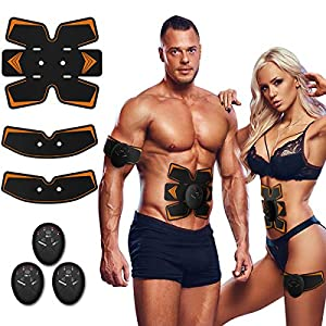Antmona Abs Stimulator, Muscle Toner – Abs Stimulating Belt- Abdominal Toner- Training Device for Muscles- Wireless Portable to-Go Gym Device- Muscle Sculpting at Home- Fitness Equipment, Black