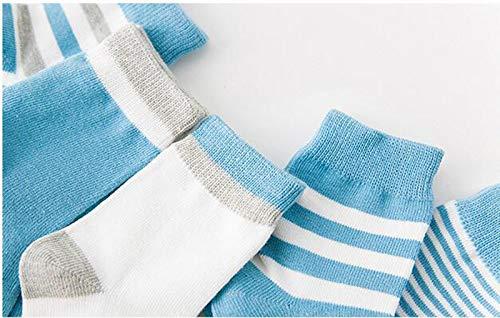 Toddlers Little Kids Soft Warm Crew Stripe Sock KEKEOCIA Baby Infant Cotton Socks