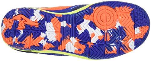 Joma Sala Max Jr 604 Royal-Naranja Indoor, Botas De Fútbol para Niños ROYAL-NARANJA