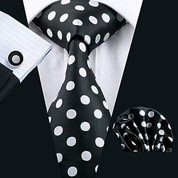 XKZYY Corbatas para Hombres Corbata de Seda pañuelo Gemelos ...