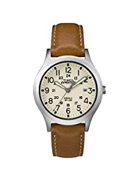 Timex Expedition Scout - Reloj de brazalete (36 mm), Tan/Silver/Natural, Una talla
