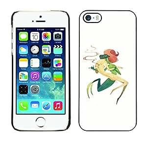 Estuche Cubierta Shell Smartphone estuche protector duro para el teléfono móvil Caso Apple Iphone 5 / 5S / CECELL Phone case / / Mermaid Green Dagger Letting Go Symbolic Art /