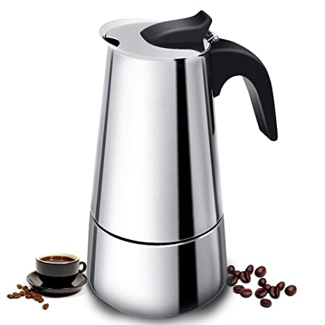 Vinekraft Moka Express Cafetera Italiana Acero Inoxidable, 6 ...