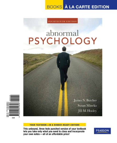 Abnormal Psychology, Unbound (for Books a la Carte Plus) (14th Edition)