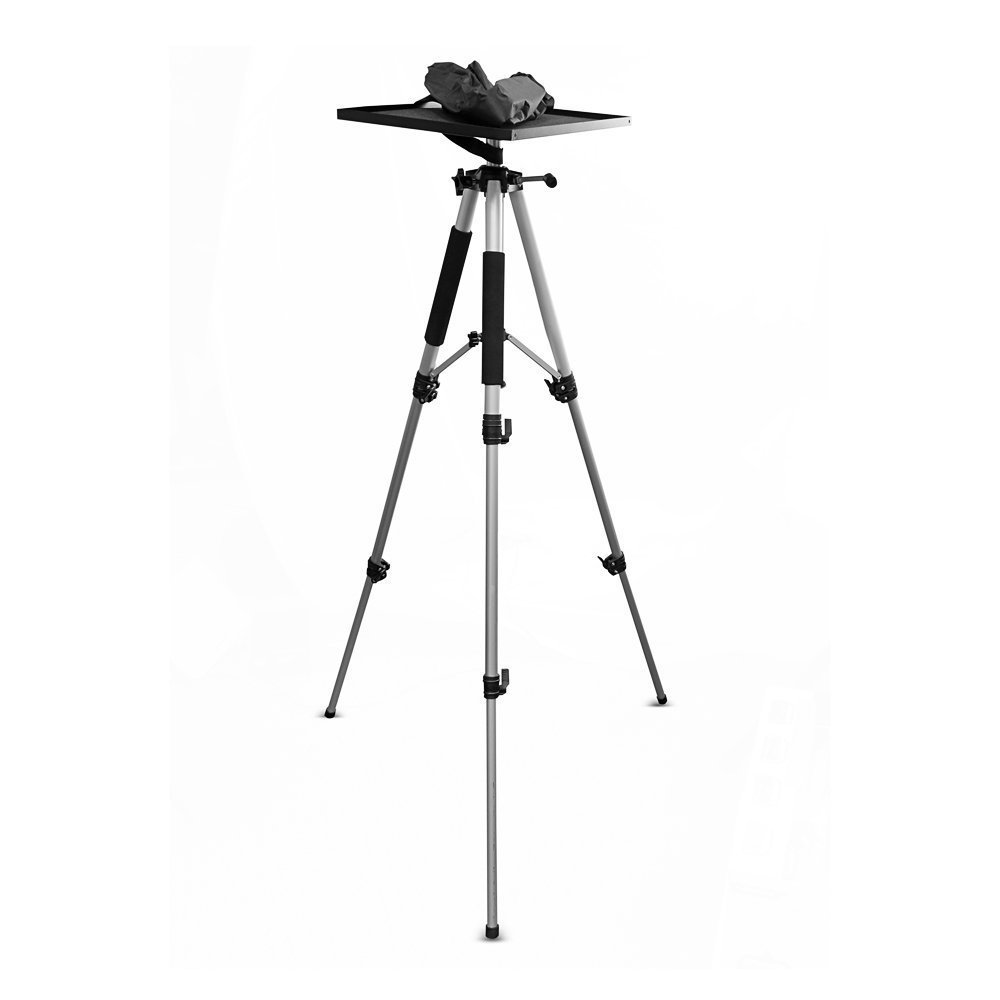 Video Projector Mount Stand, Laptop Stand, Adjustable Height, 360 Degree Rotation, Swivel/Rotating Plate, Tripod Style, With Travel Bag by Assome (Image #1)