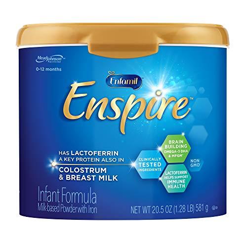 Enfamil Enspire Baby Formula Milk Powder, 20.5 Ounce, Omega 3 DHA, Probiotics, Immune & Brain Support