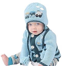 Huggalugs Boys Choo Choo Train Beanie Hat Large (2-6yr)