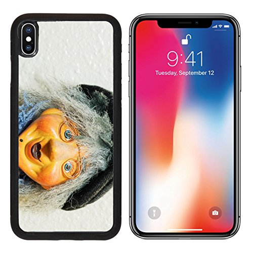 MSD Premium Apple iPhone X Aluminum Backplate Bumper Snap Case Miniature witch doll hang on the wall IMAGE (Fantasia Halloween Sp)