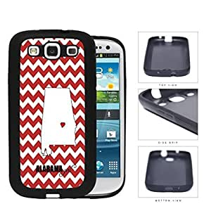 Alabama State Girl With Heart And Chevron Rubber Silicone TPU Cell Phone Case Samsung Galaxy S3 SIII I9300