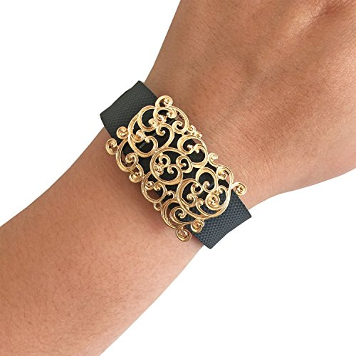 - Charm to Accessorize the Fitbit Charge, Charge HR and Other Fitness Trackers - The SCROLL Gold Filigree Charm to Dress Up Your Favorite Fitness Tracker (Gold, Fitbit Charge/Charge HR)