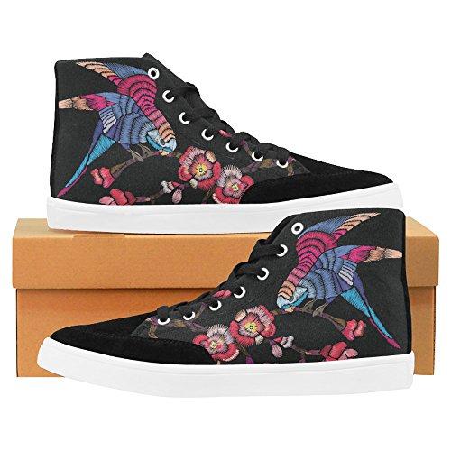 Branche De Floraison Interestprint Avec Un Oiseau Haut De Mode Chaussures Pour Les Femmes Branche De Floraison Avec Un Oiseau