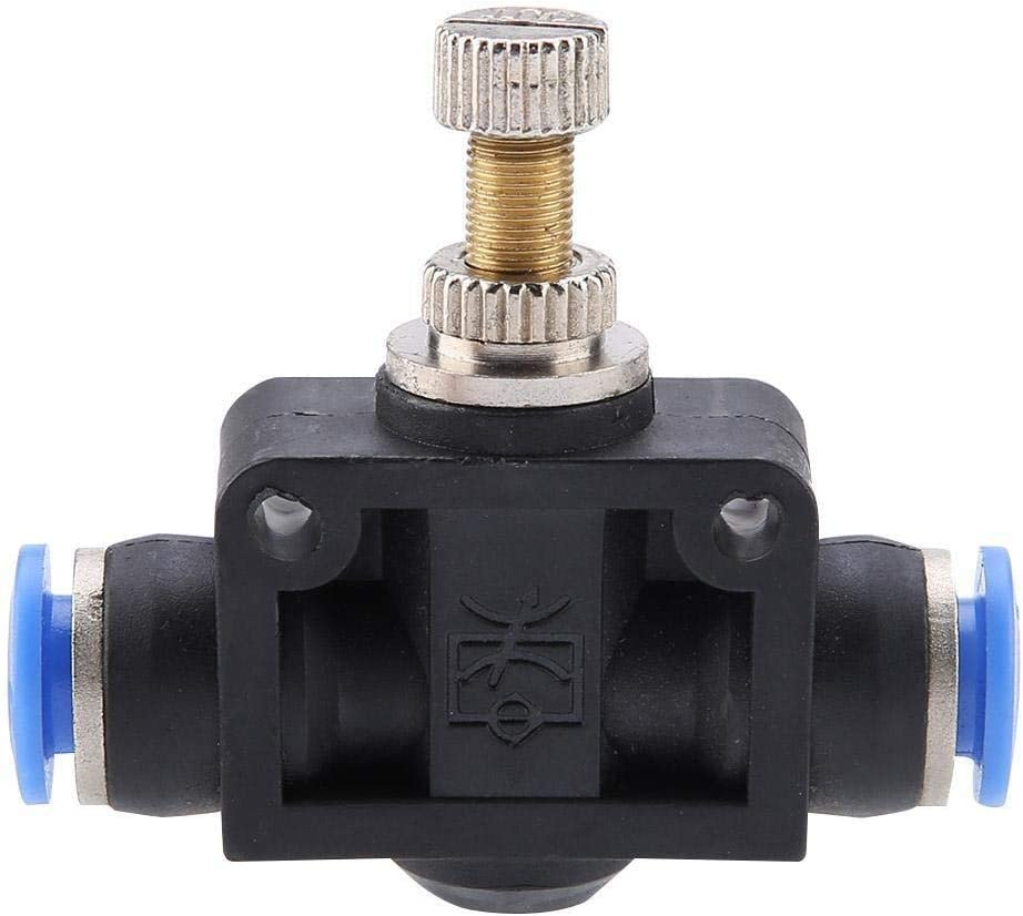 Beennex 4//6//8//10//12mm Pneumatic Tools Gas Inlet Control Air Speed Regulate Valve