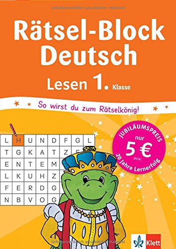 Klett Mein Rätsel-Block Lese-Rätsel: Deutsch 1. Klasse (Die kleinen Lerndrachen)