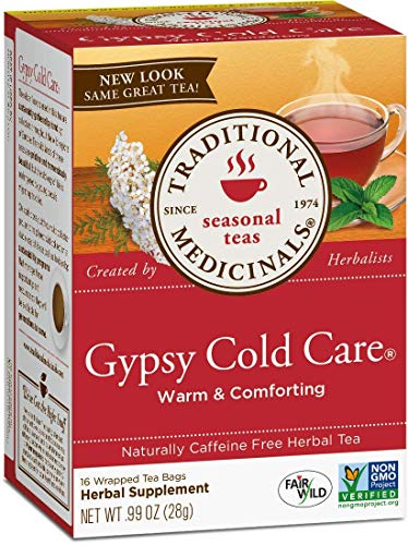 Traditional Medicinals Gypsy Cold Care Herbal Tea, Caffeine Free, 16 Count
