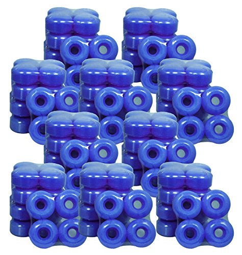 50セットブランドBlank Skateboard Wheels 52 mmダークブルー(200 Wheels) B06XJ43J1K