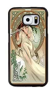 Samsung Galaxy S6 Edge Case, Personalized Art Nouveau Celtic Supreme Protection TPU Black Bumper Case Cover for Samsung Galaxy S6 Edge