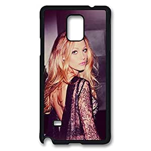 Galaxy Note 4 Case, Blake Lively Design Print Pattern Perfection Case [Anti-Slip Feature] [Perfect Slim Fit] Plastic Case Hard Black Covers for Samsung Galaxy Note 4