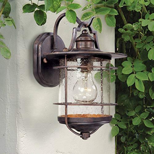 (Casa Mirada Industrial Rustic Outdoor Light Fixture Vintage Bronze 12