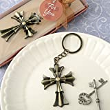 84 Flared Cross Design Key Chains Religious Favors