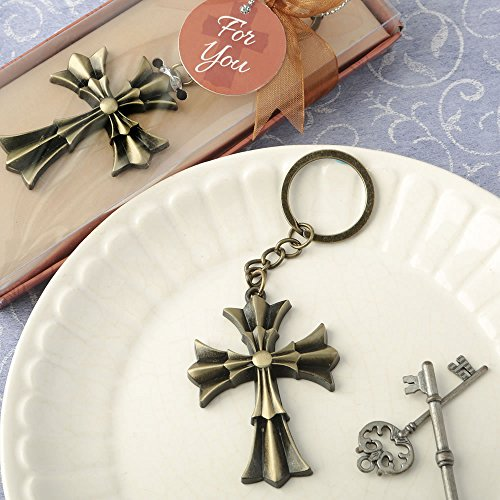 84 Flared Cross Design Key Chains Religious Favors by Fashioncraft