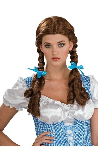 Wizard Of Oz Dorothy Wig, Brown, One Size