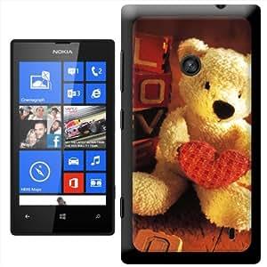 Fancy A Snuggle ' osito con forma de corazón con Love artes marciales' carcasa Rígida para Nokia Lumia 520