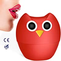 Sexy Full Lip Plumper - MEXITOP NANA Owl Soft Silicone Lip Enhancer Plumper Pump Device Natural Fuller Thicker and Sexy Quick Lip Enhancement Plumping Tool Gift for girl friend/wife/Homie/Bestie(Single & Double Lobed Style Included)
