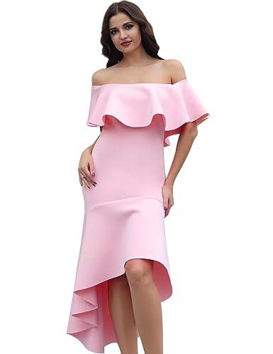 Adyce Vestito Donna-Sexy-Bandage-Dress rosa per le donne dei alto basso vestito elegante vestito da ...
